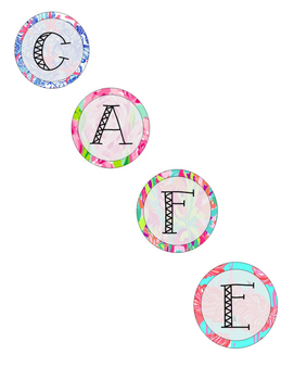 CAFE BOARD Lilly Pulitzer Inspired