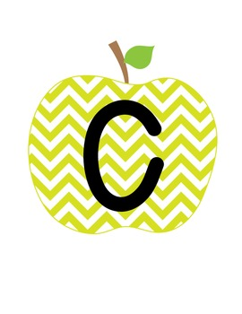 CAFE Board Header FREEBIE {Chevron Apples}