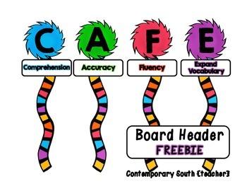 CAFE Board Header FREEBIE {Dr. Seuss}