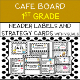 CAFE Board for 1st Grade - Bulletin Board Set - includes Strategy Cards