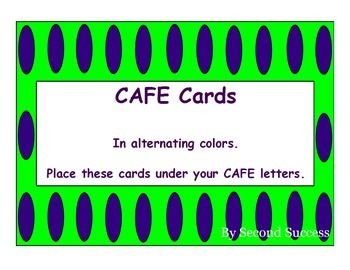 CAFE Cards Polka Dots