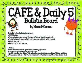 CAFE & Daily 5 Monster Theme_EDITABLE