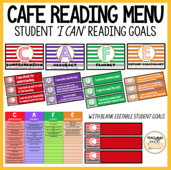 CAFE Display and 'I CAN' Reading Goals