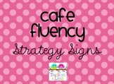 CAFE Fluency Strategy Signs