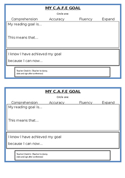 CAFE Goals Student template