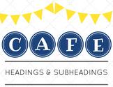 CAFE HEADINGS & SUBHEADINGS: Modern Design