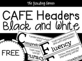 CAFE Headers Black and White
