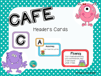 CAFE Headers--Colorful Monster theme