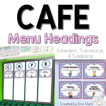 CAFE Headers {From the Emergent, Transitional, and Traditional CAFE Menu!}