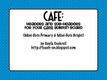 CAFE Headers: Primary Polka Dots & Bright Polka Dots
