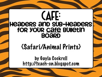 CAFE Headers: Safari/Animal Print