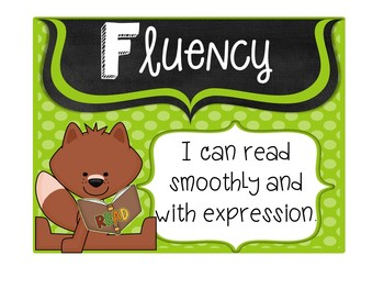CAFE Headers and Strategy Cards 1st Grade Forest Theme (Fox Version)