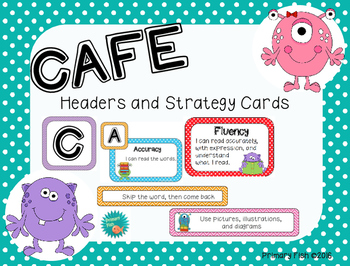 CAFE Headers and Strategy Cards-Colorful Monster theme