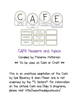 CAFE Headers and Topic Tags