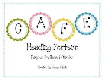 CAFE Heading Posters-Bright Scalloped Circles
