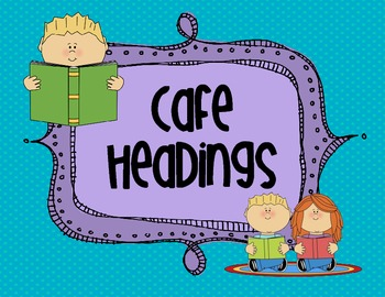 CAFE Menu Headings with Fun Colors!