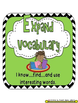 Reading Strategy Cards, Letters, and Posters (B/W Chevron Print) - Tall Version