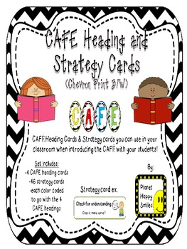 CAFE Letters, Posters, and Strategy Cards (B/W Chevron Pri