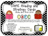 Reading Strategy Cards, Letters, and Posters (B/W Polka Dot Print)