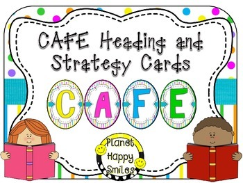 Reading Strategy Cards, Letters, and Posters (Bright Polka