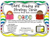 Reading Strategy Cards, Letters, and Posters (Multi Colored Chevron Print)