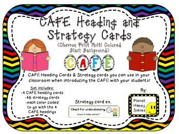 CAFE Letters, Posters, and Strategy Cards (Multi Colored C