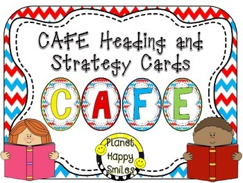 Reading Strategy Cards, Letters, and Posters (Red, White and Blue Chevron)