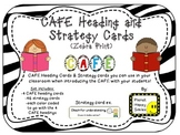 Reading Strategy Cards, Letters, and Posters (Zebra Print)