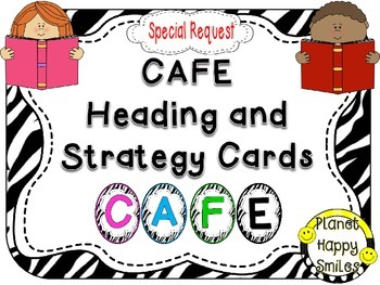 Reading Strategy Cards, Letters, and Posters ~ Zebra Print