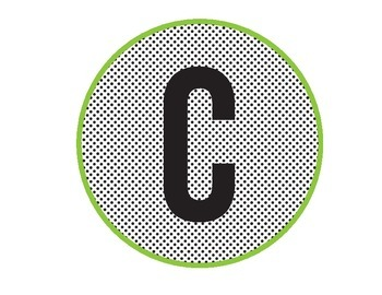 CAFE Letters for Board (polka dot and green)