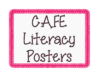 CAFE Literacy Posters - Polka Dots