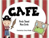 CAFE Menu Cards - Pirate Themed