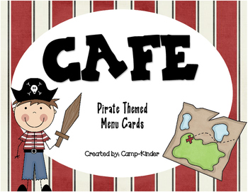 CAFE Menu Cards - Pirate Themed