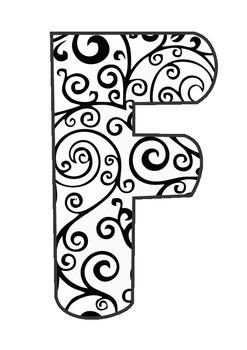 CAFE Menu Letters - Gorgeous Pattern