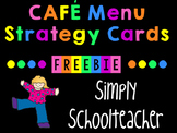 CAFE Menu Strategies for Emergent/Transitional Readers (K-1)