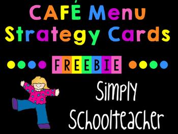 CAFE Menu Strategies for Emergent/Transitional Readers (K-1)