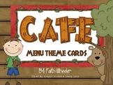 CAFE - Menu Theme Cards (Camping)