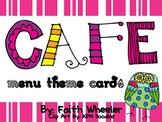 CAFE - Menu Theme Cards (Owls)