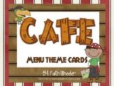 CAFE - Menu Theme Cards (Pirates)