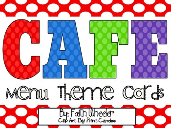 CAFE - Menu Theme Cards (Polka Dots)