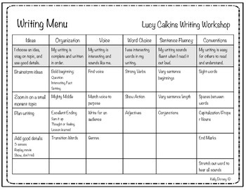CAFE Menu & Writing Menu