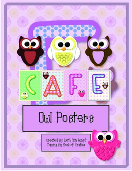 CAFE Owl Posters FREEBIE