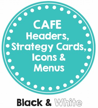 CAFE Posters BLACK & WHITE (Headers, Strategy Cards, Icons & MENUS)