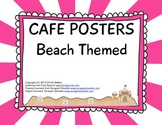 CAFE Posters - Beach Themed - Pink