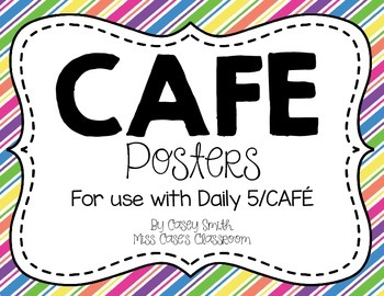 CAFE Posters - Colorful Stripes