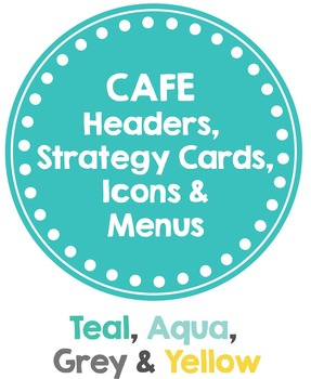 CAFE Posters Teal, Grey, Yellow (Headers, Strategy Cards, Icons & MENUS)
