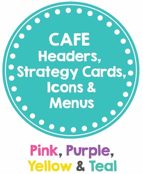 CAFE Posters PINK, PURPLE, YELLW & TEAL (Headers, Strategy Cards, Icons & MENUS)