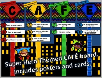 CAFE Posters - Super Hero Themed