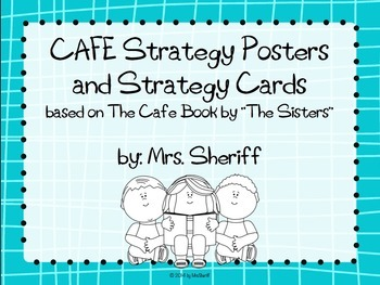 CAFE Posters and Strategy Cards {EDITABLE} Blue
