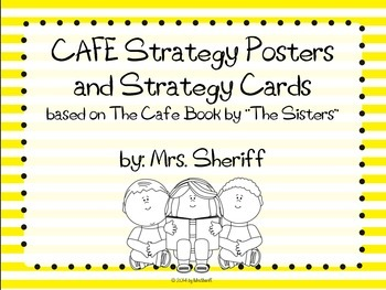CAFE Posters and Strategy Cards {EDITABLE} Yellow